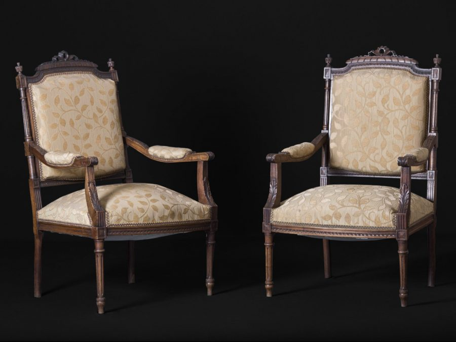19th Century French Carved Armchairs