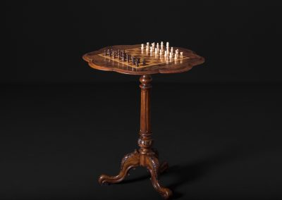 "Victorian Walnut Gamest Table - ""Chess board"""